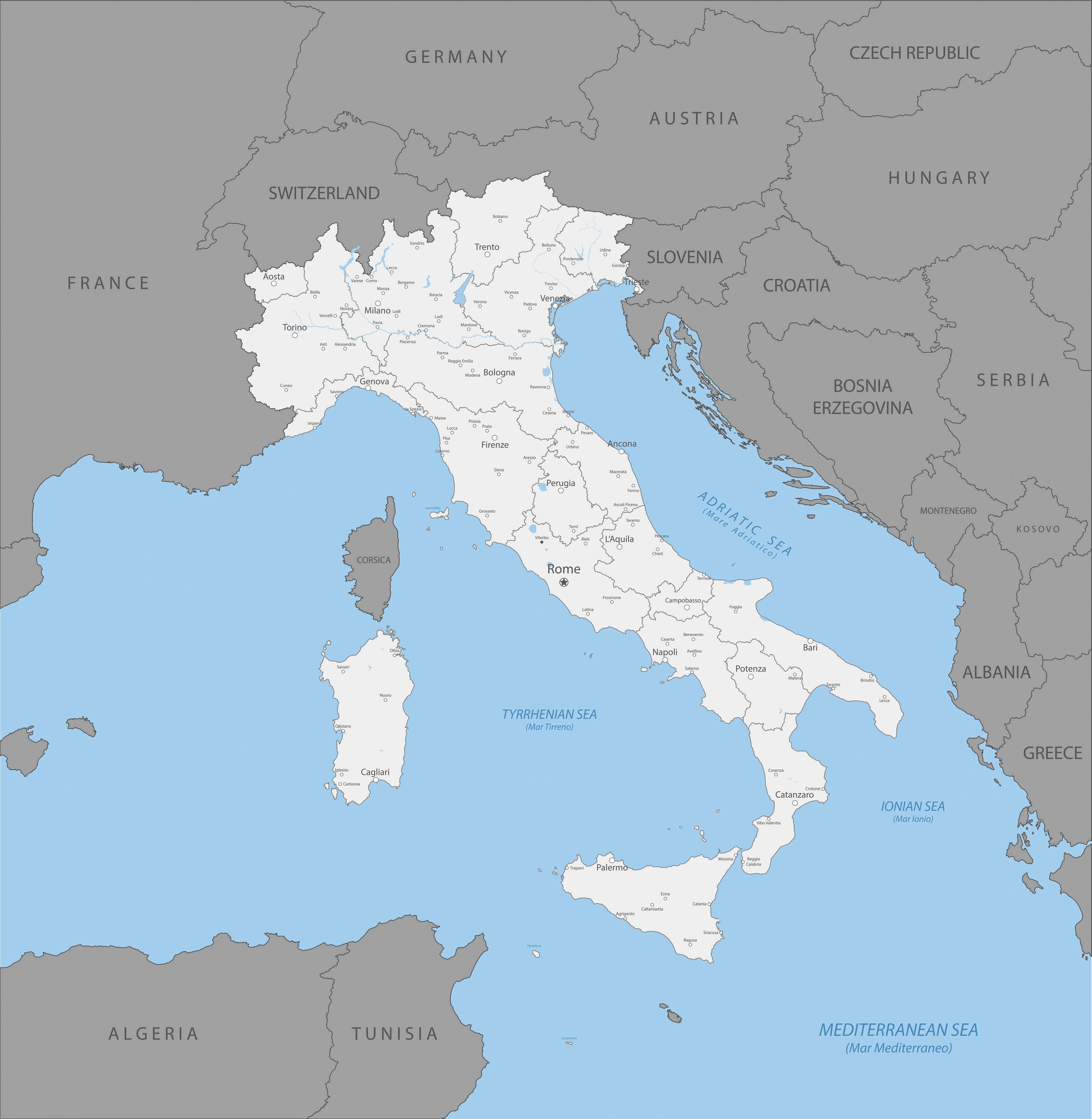 Country Map of Italy