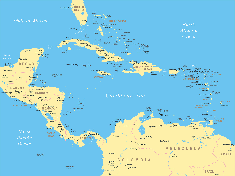 Cuba Central America Map