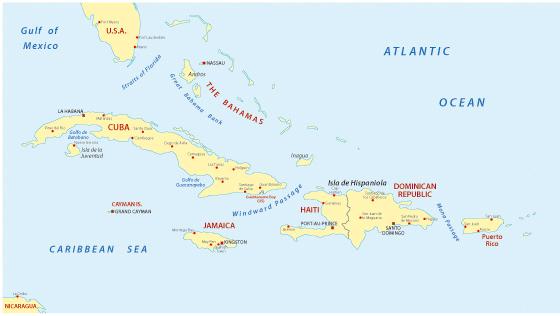 Cuba Greater Antilles Map
