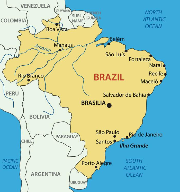 Federative Republic of Brazil Map