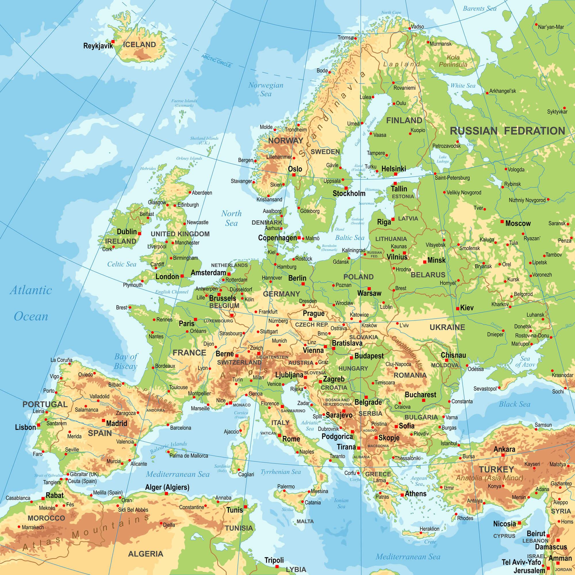 Finland Europe Map