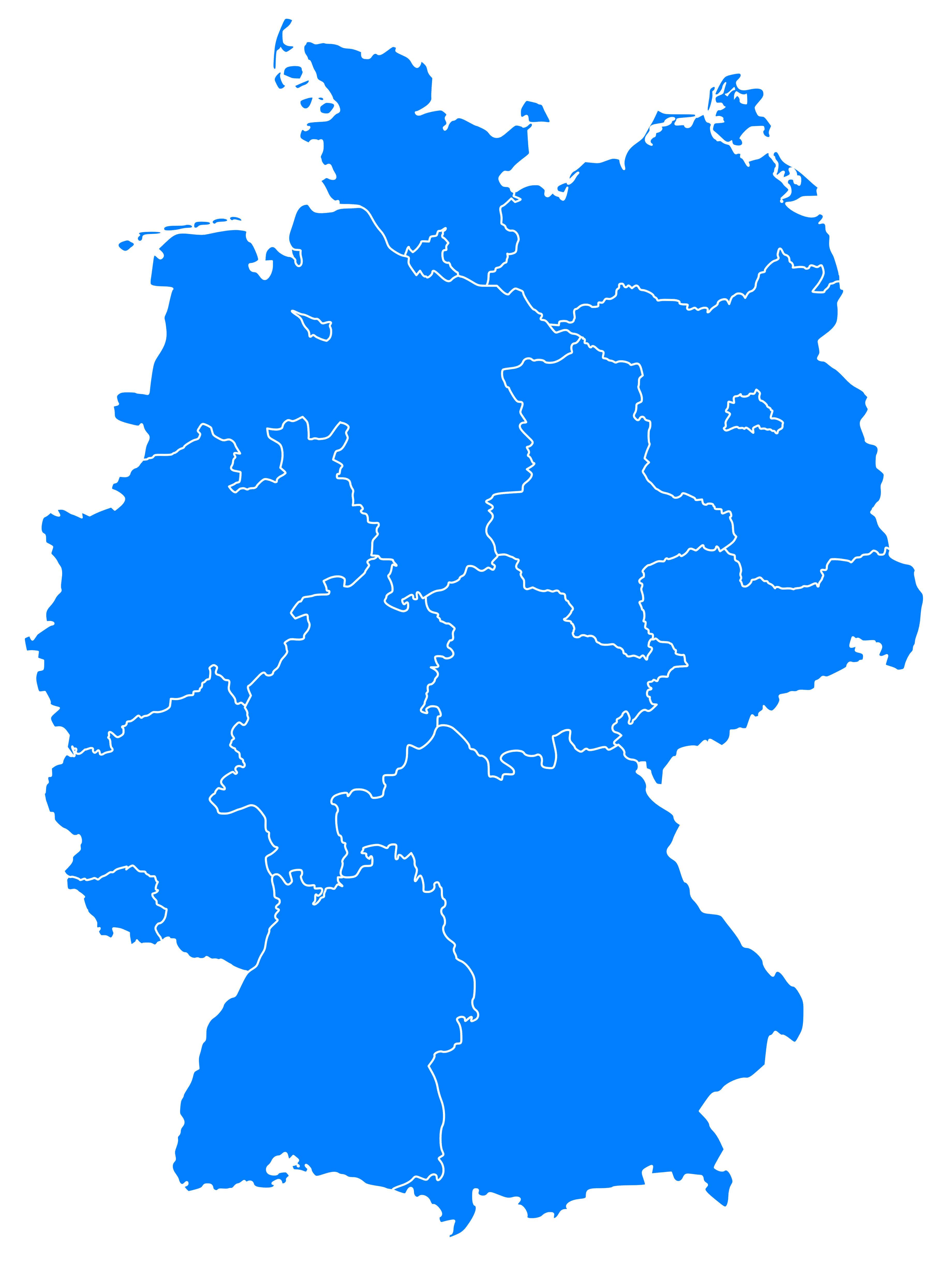 Germany Blank Map