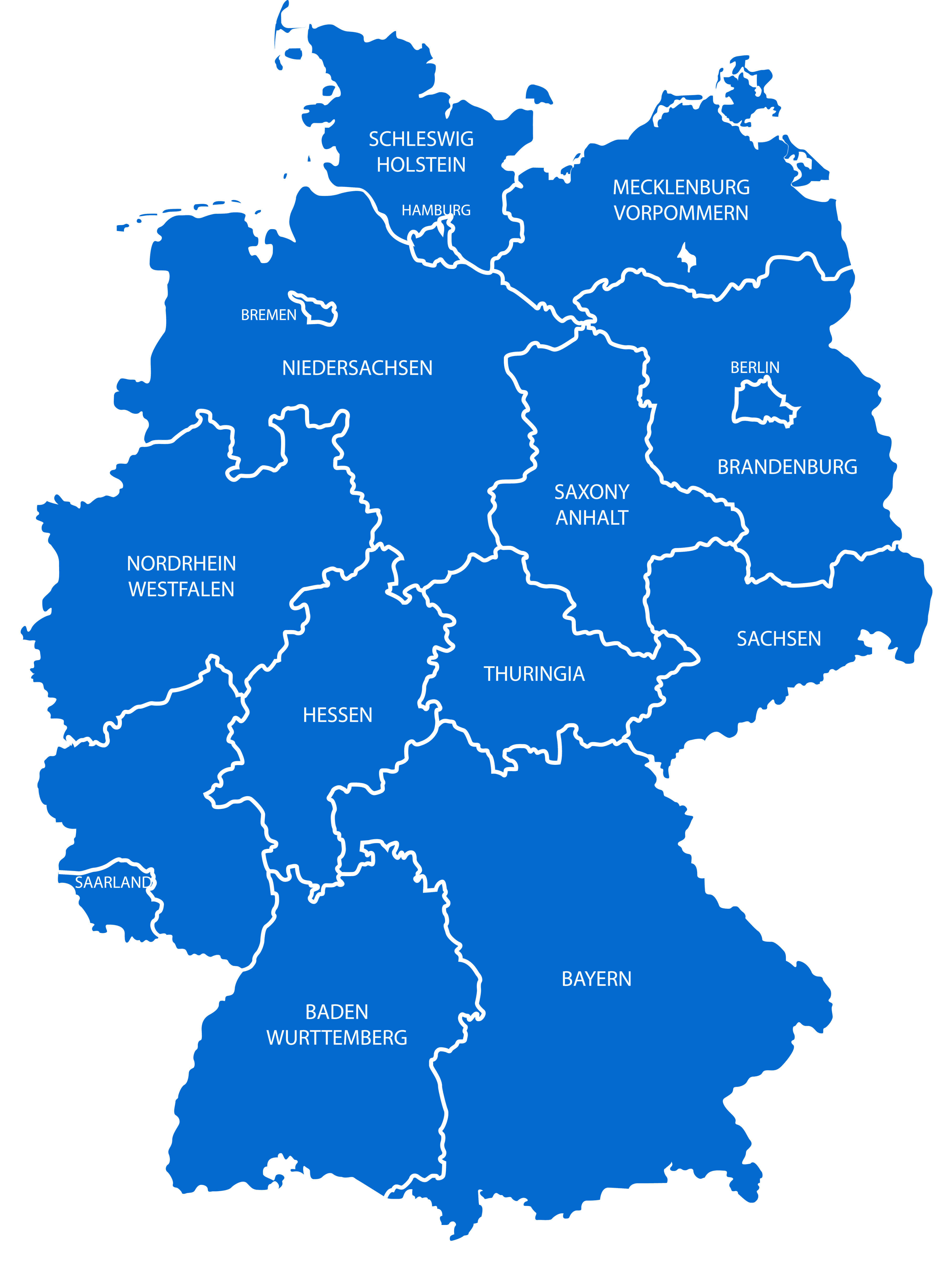 Germany Blank States Map
