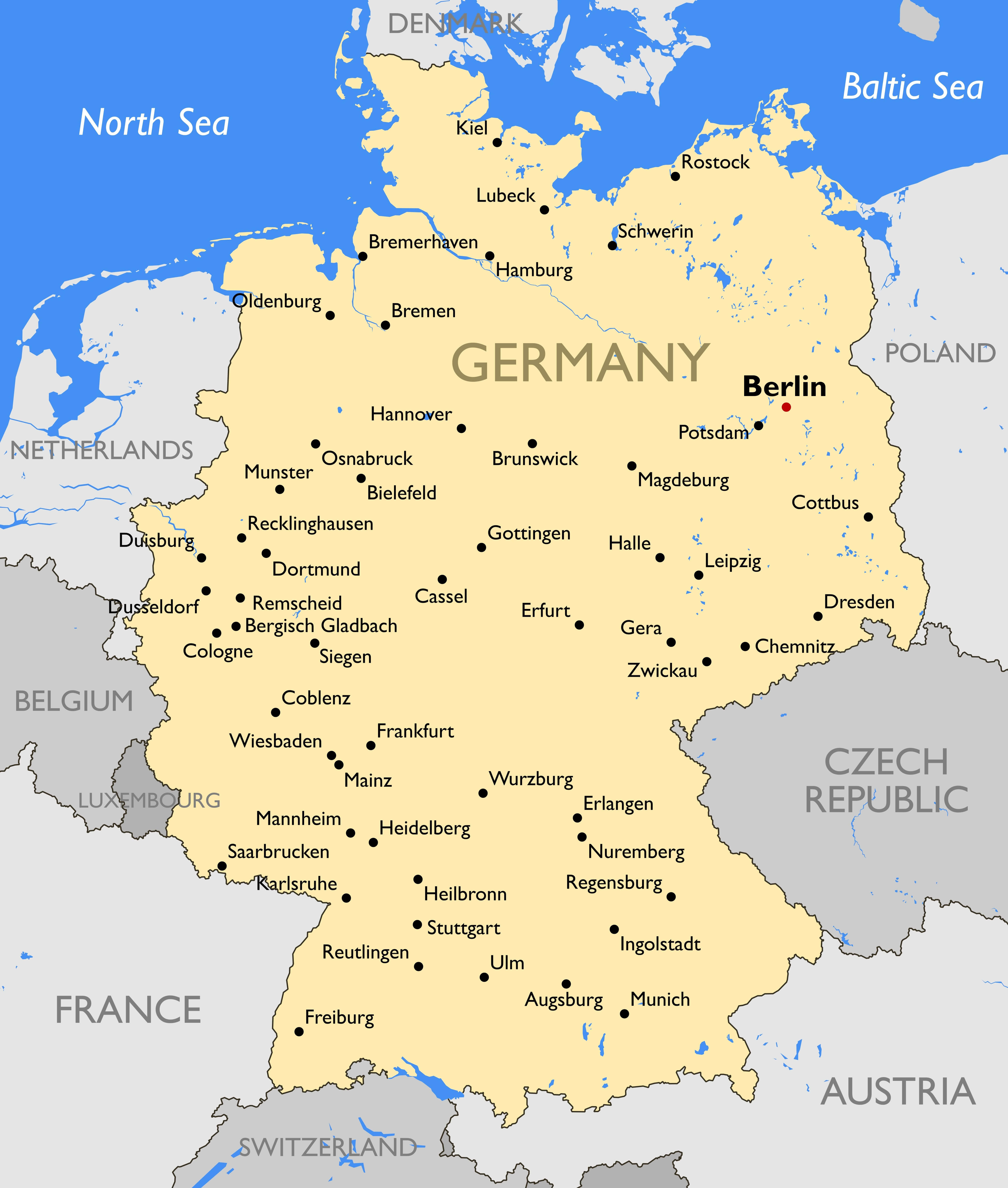 Germany Cities Map