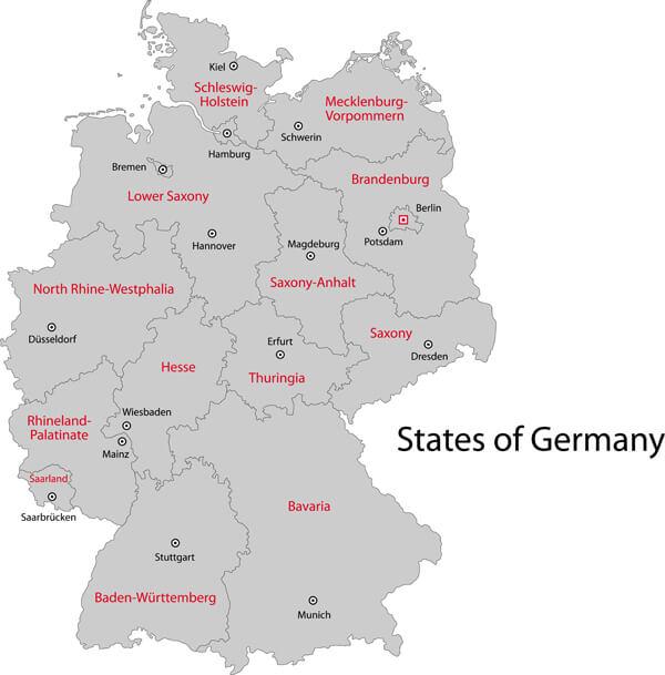 Germany Regions Map