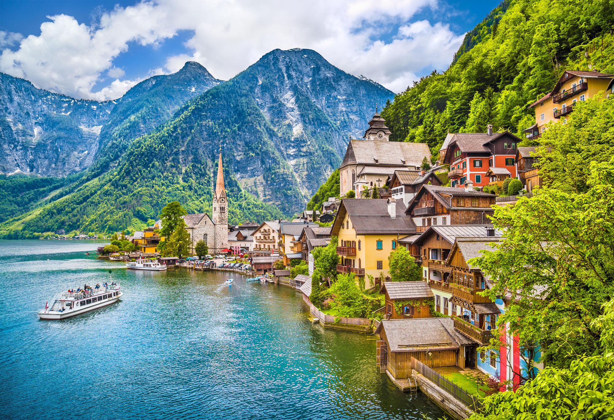 Hallstaetter Lake in the Austria