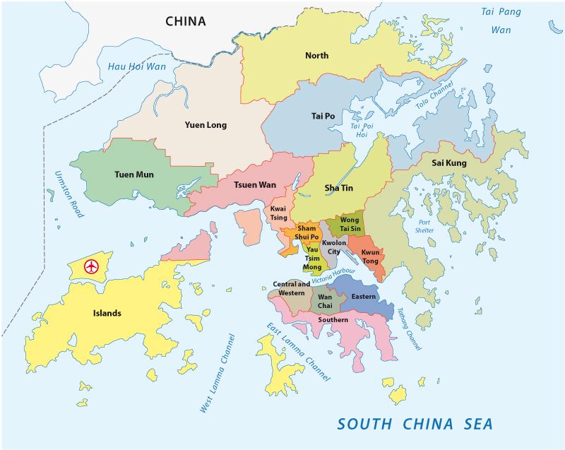 Hong Kong Administrative Map