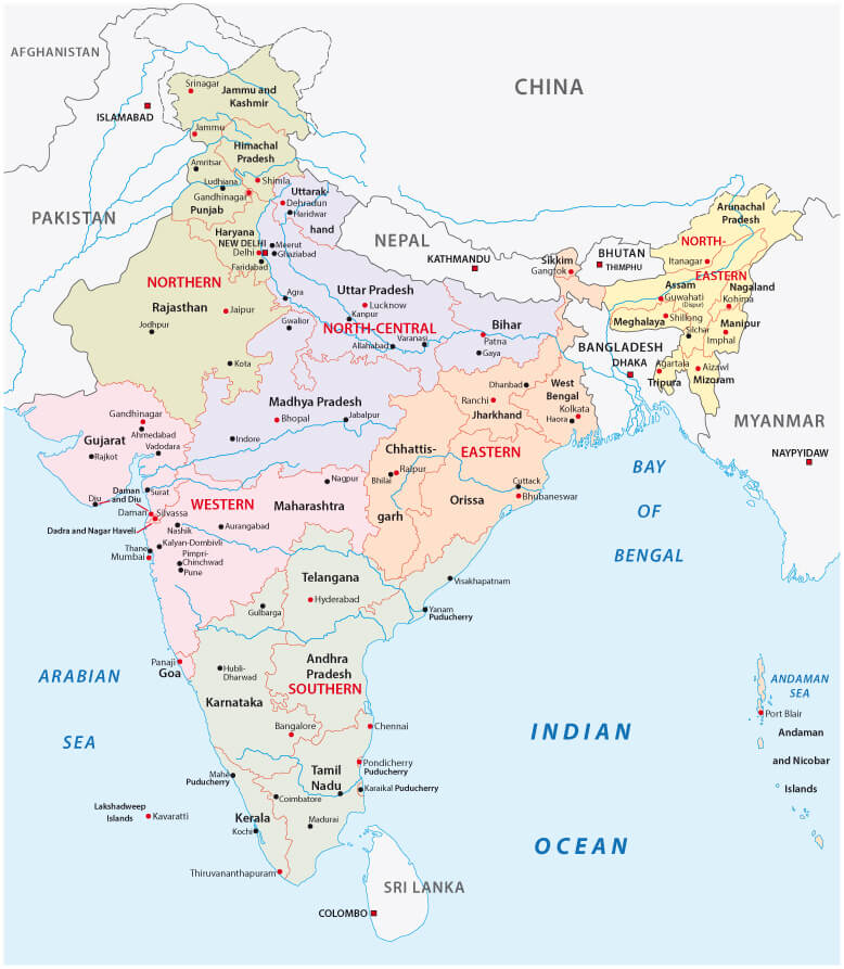 India Administrative and Political Map