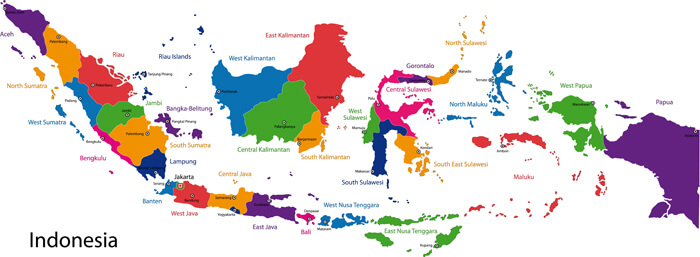 Indonesia Provinces Map