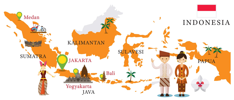 Indonesia Travel Map