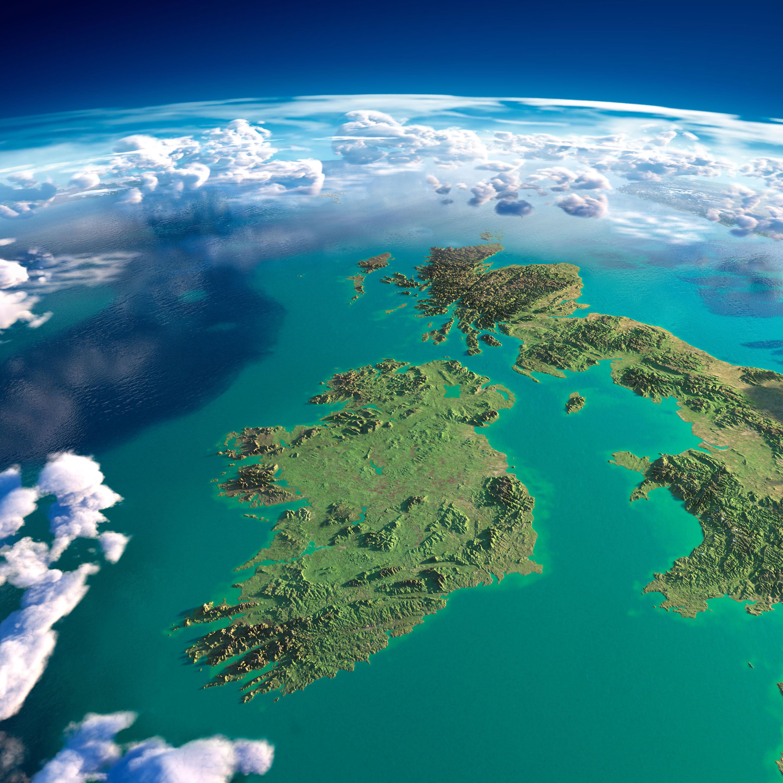 Ireland Satellite Map