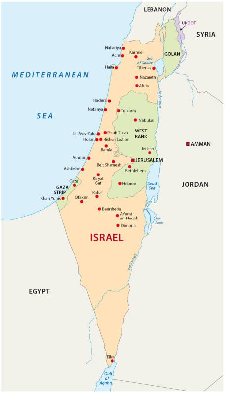 Israel National Map