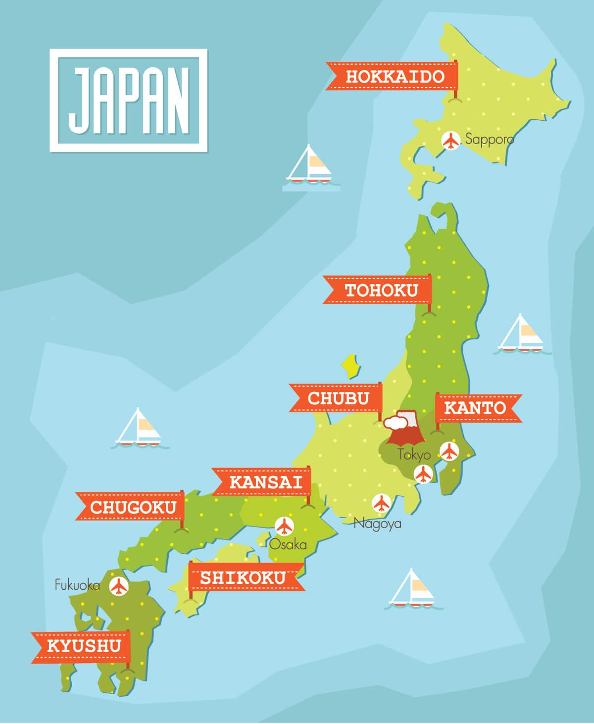 Japan Travelling Map