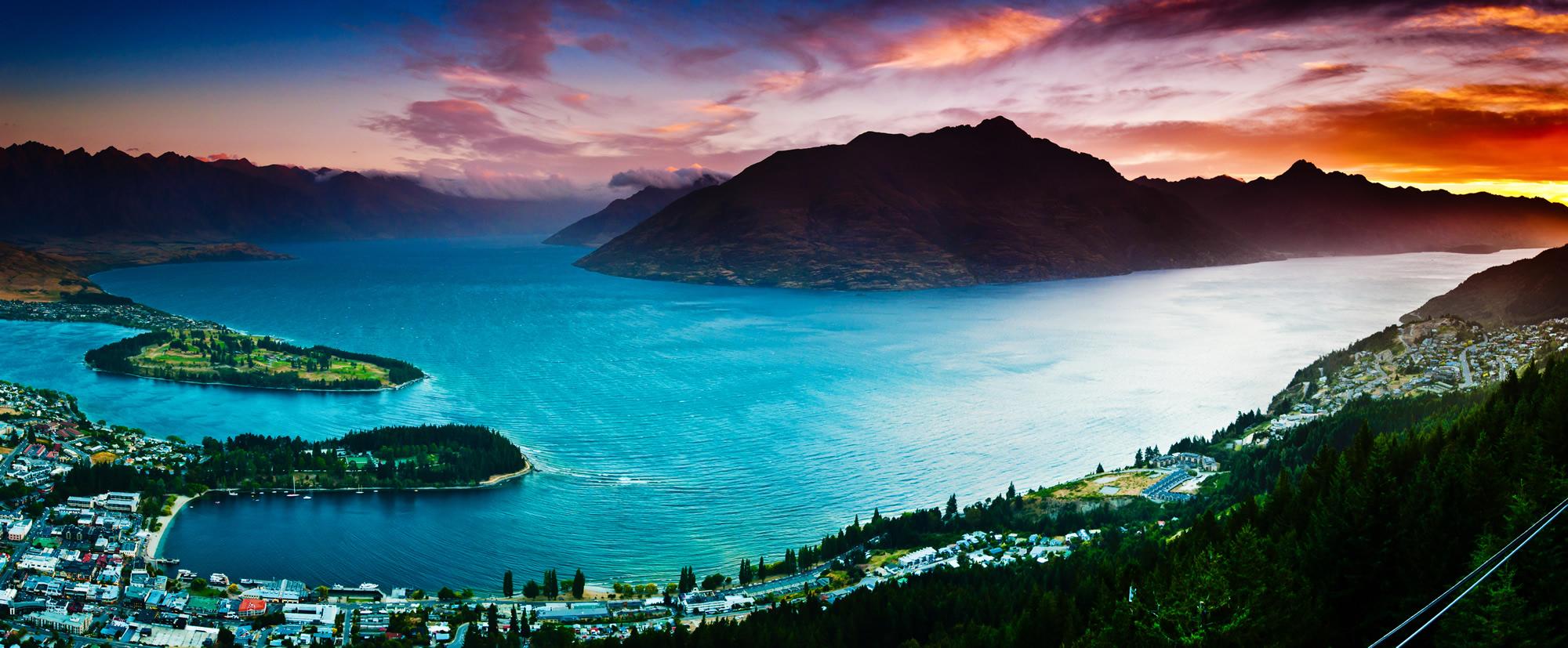 Lake Wakatipu, Queenstown New Zealand