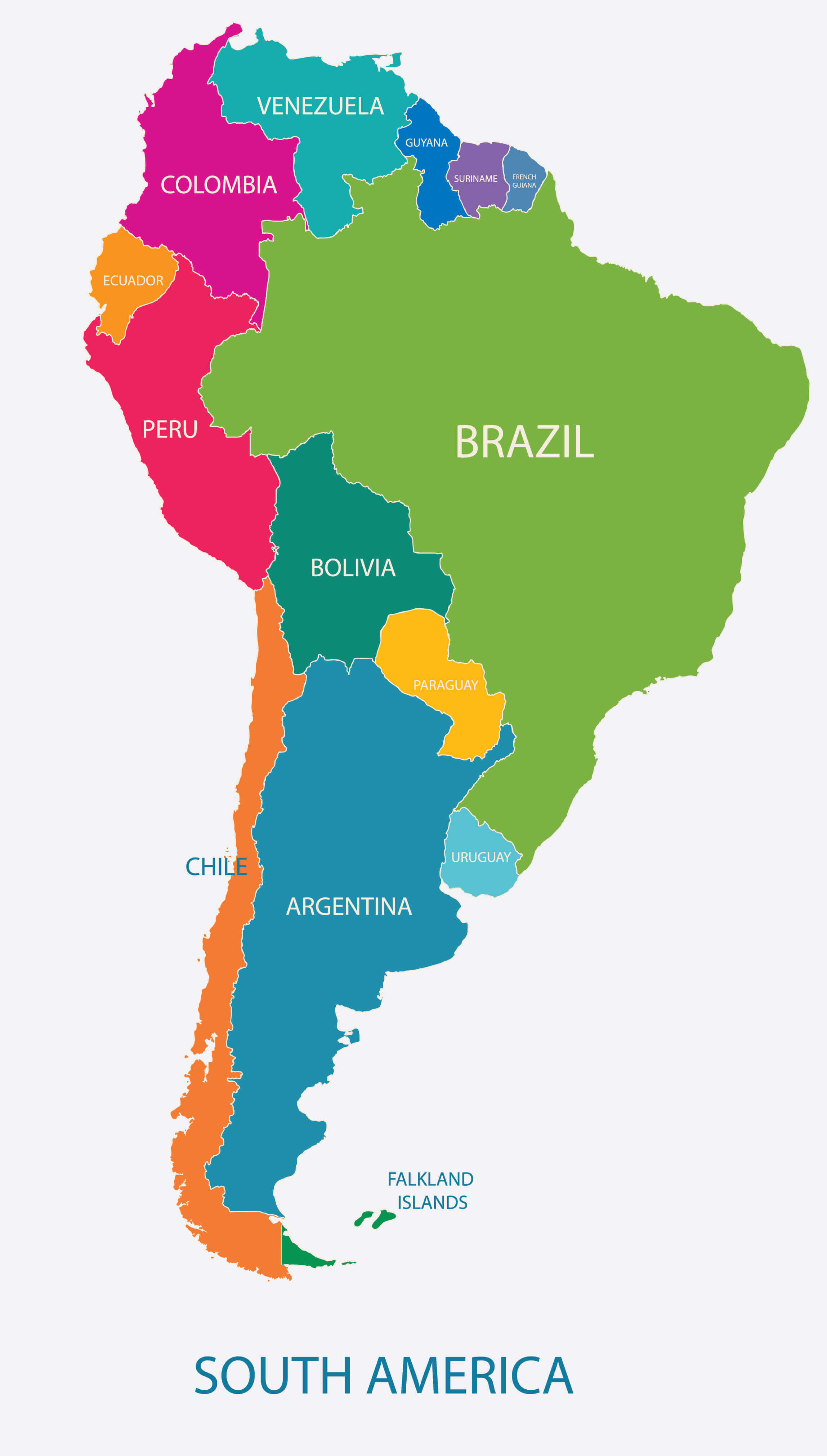 Map of Argentina, South America