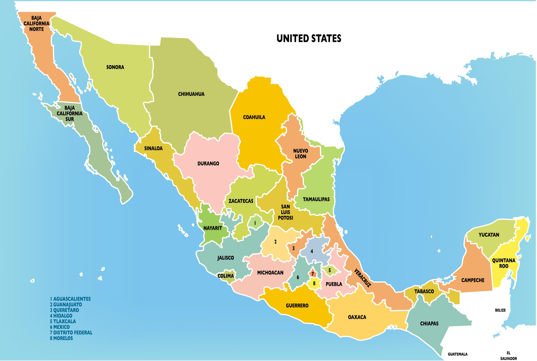 Mexico Provinces Map