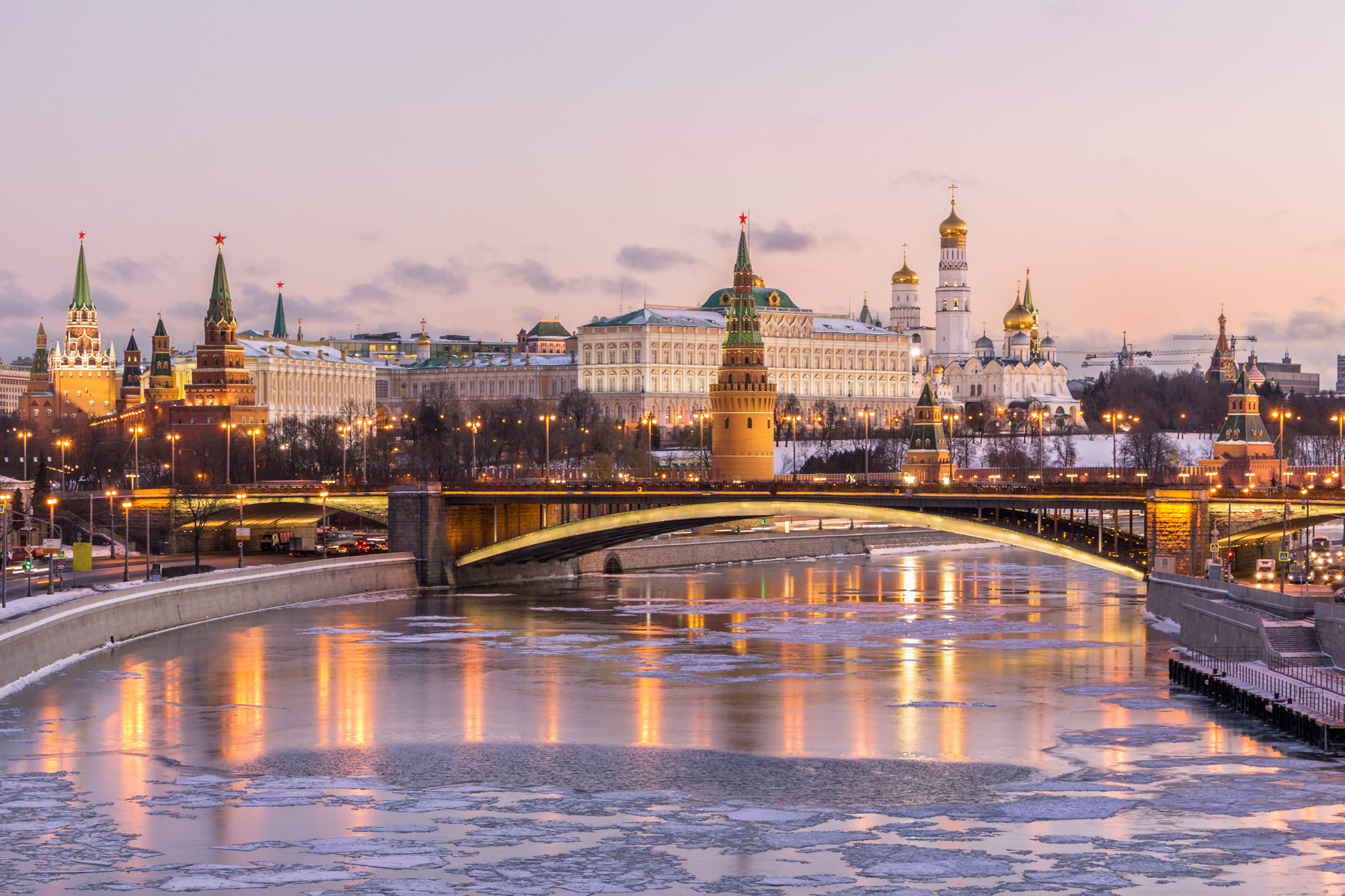 Moscow Kremlin and Moscow River, Russia