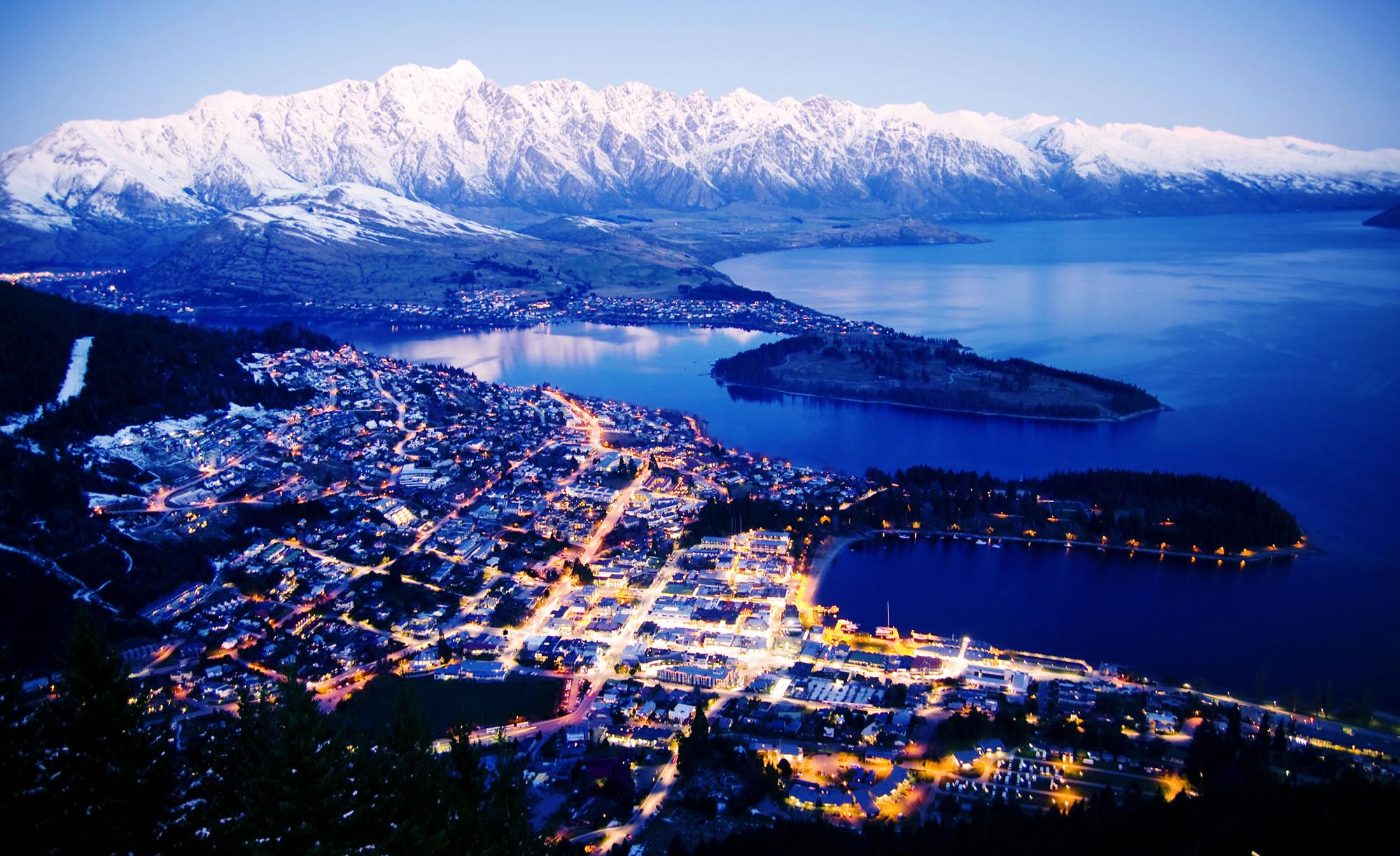 Mountain Cityscape, New Zealand