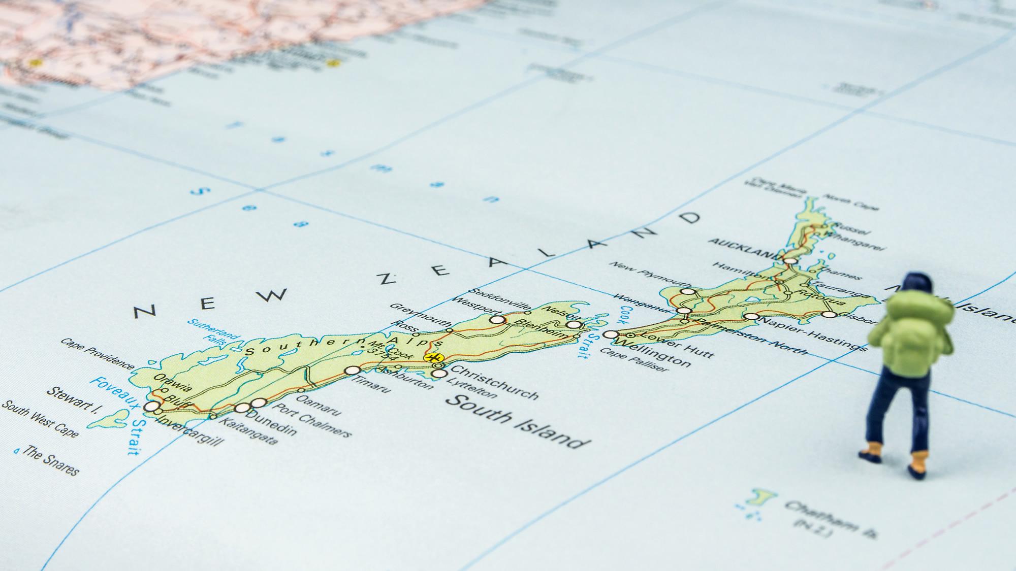New Zealand Islands Map