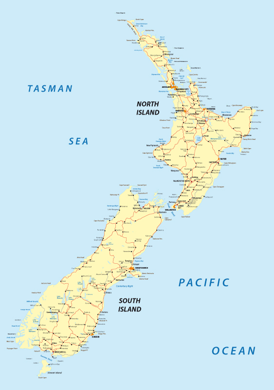 New Zealand Route Map