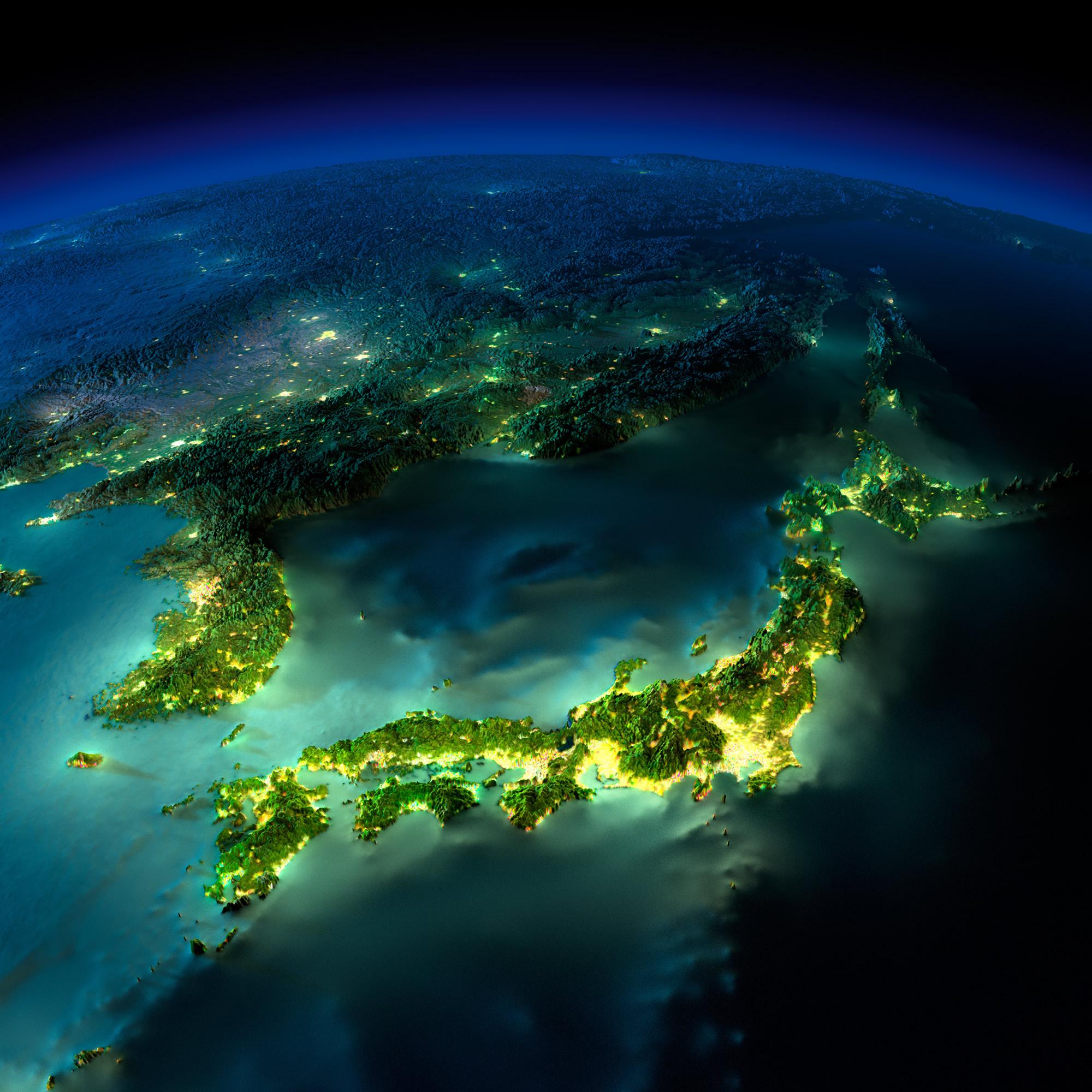 North Korea Earth Map