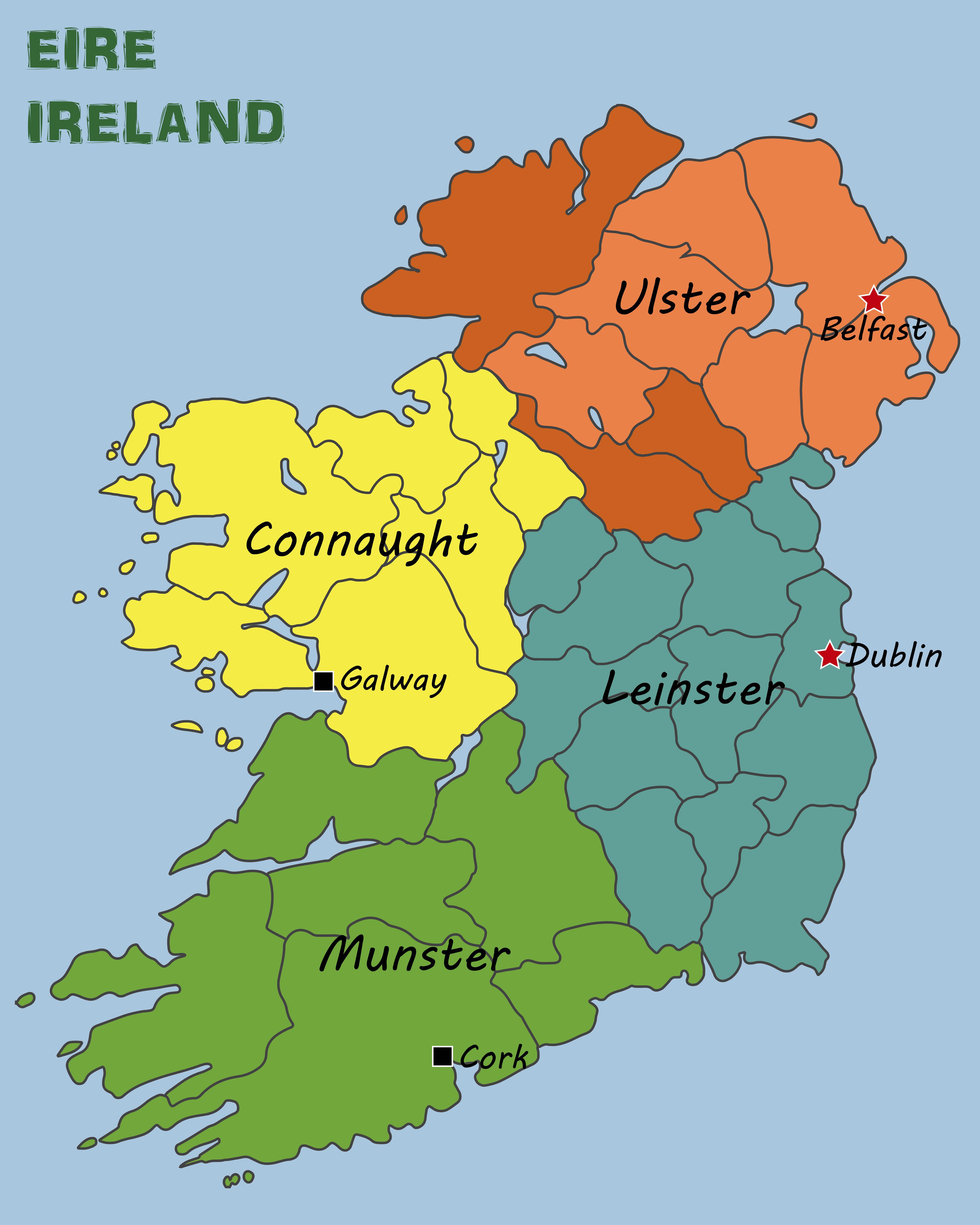 Political Map of Ireland