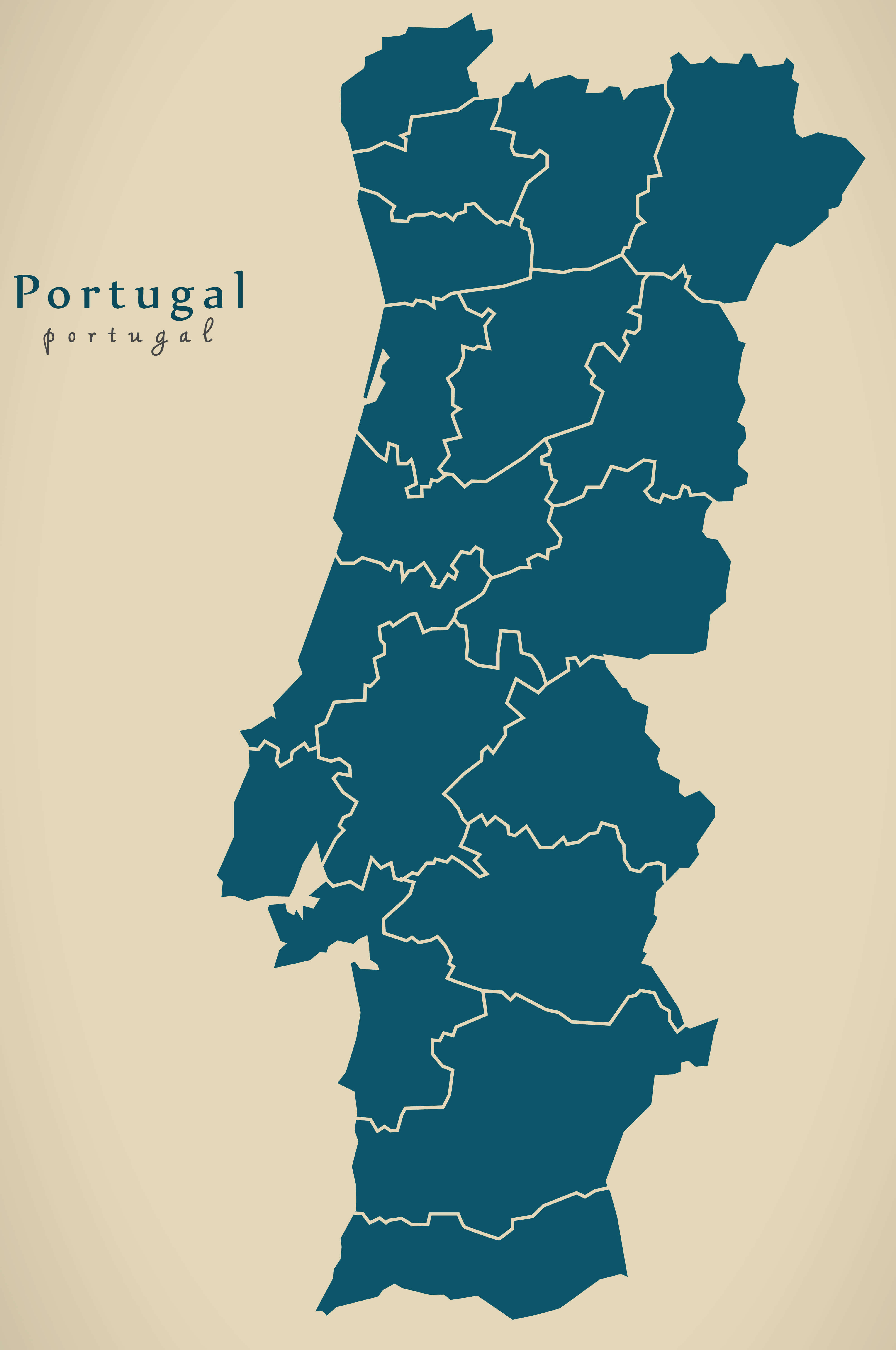 Portugal Blank Map