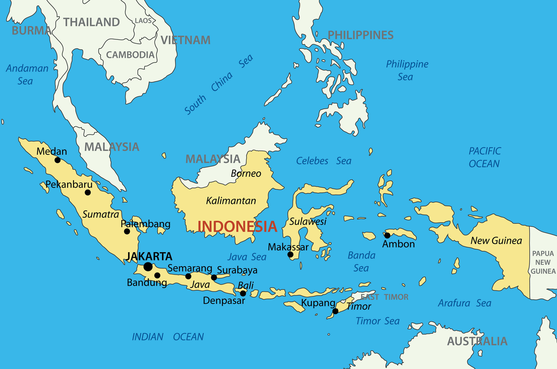 Republic of Indonesia Map