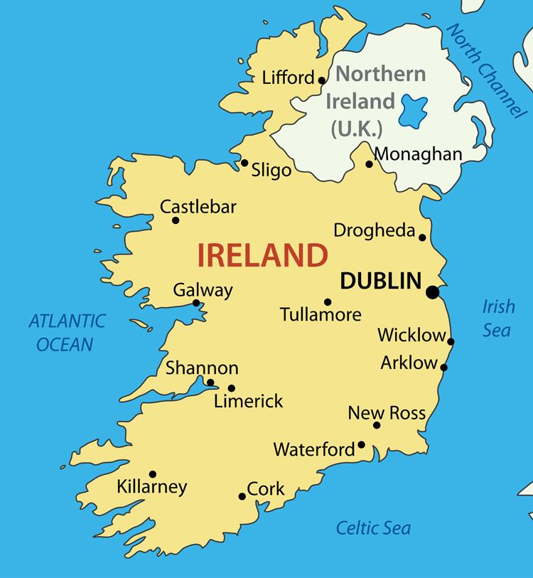 Republic of Ireland Vector Map