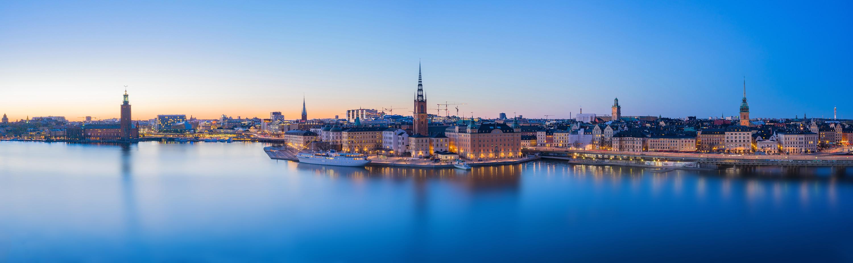 Skyline in Stockholm City, Sweden