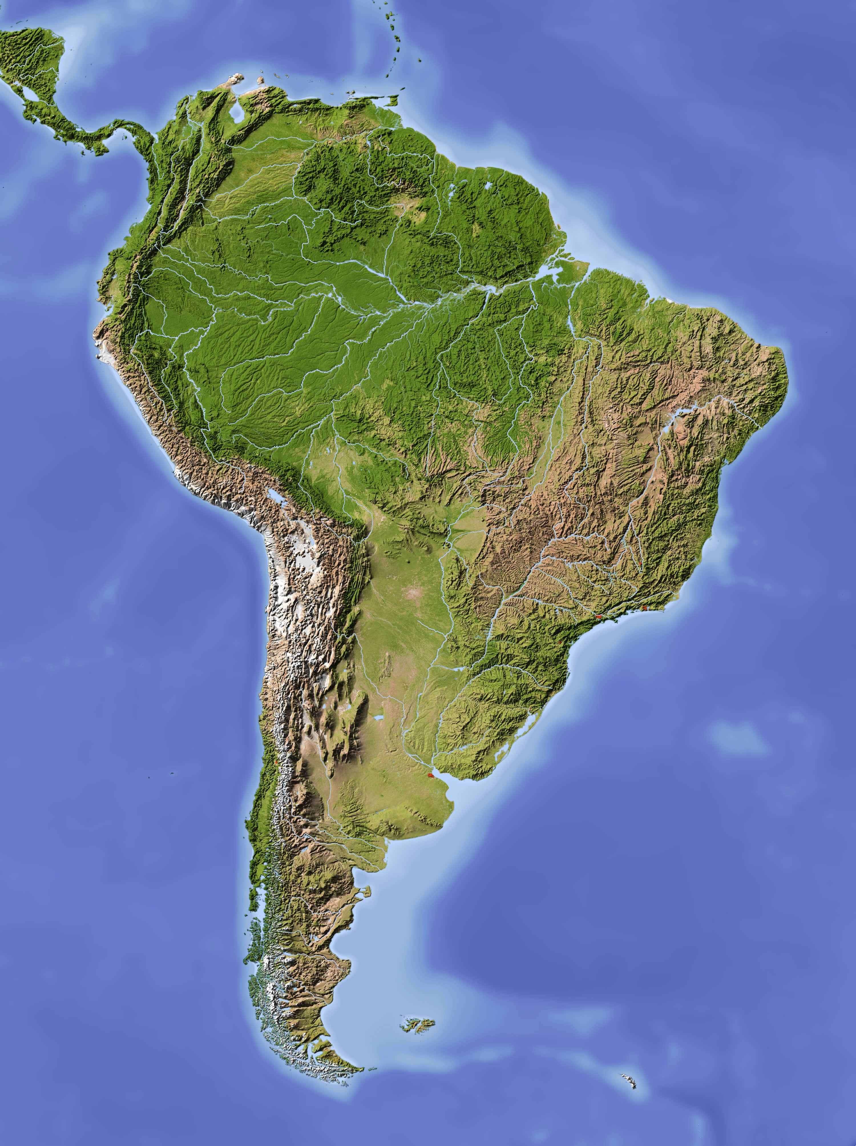 South America Satellite Map