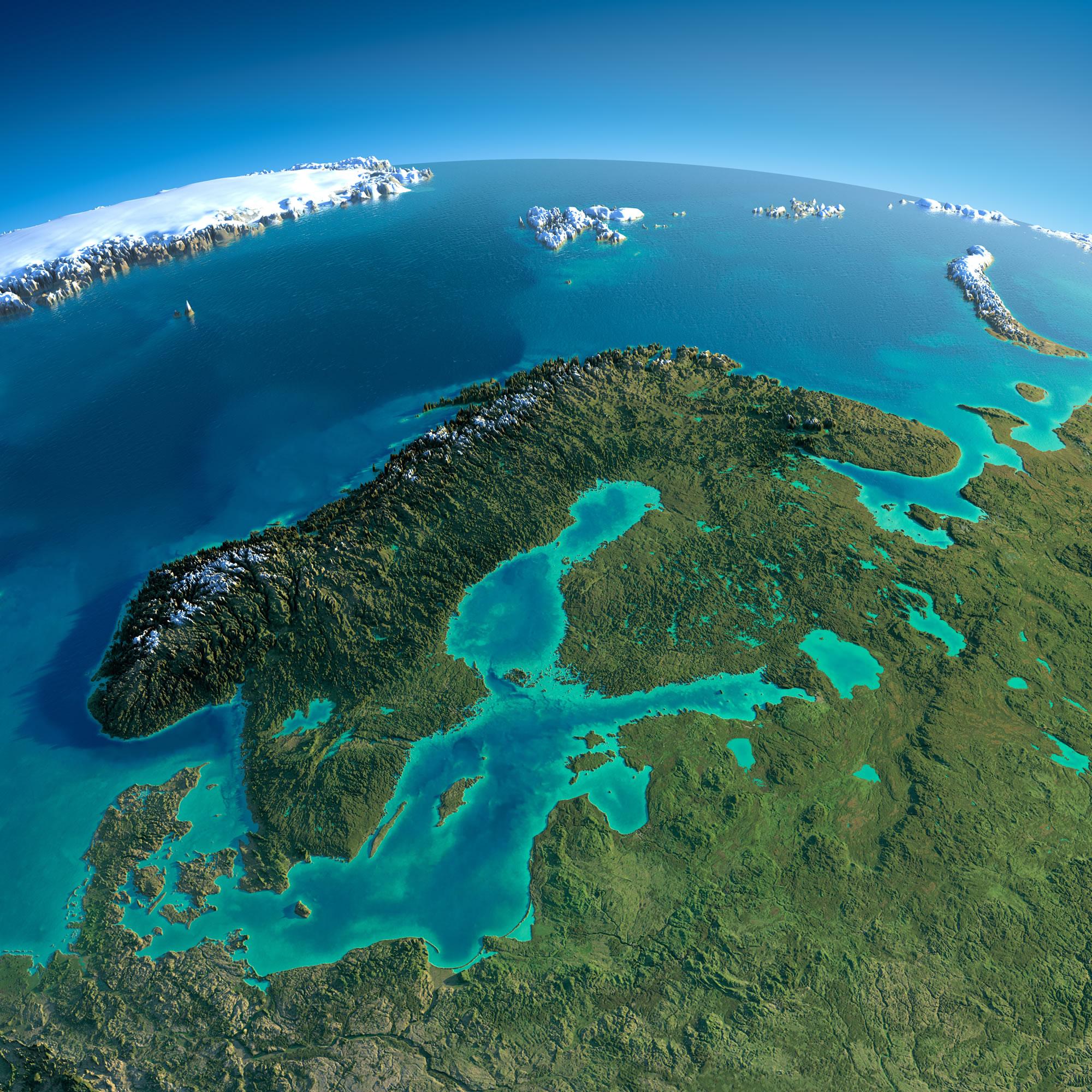 Sweden Earth Map