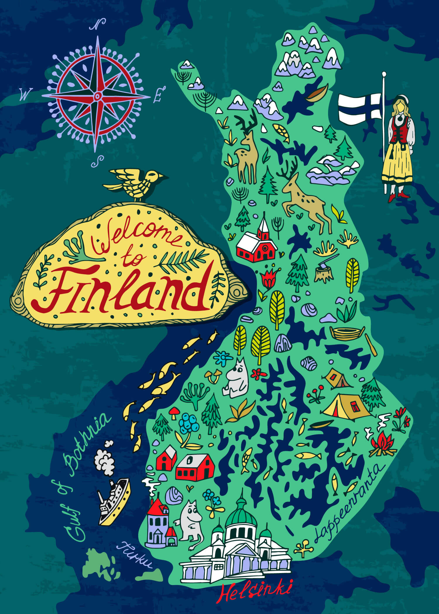 Travel Map of Finland