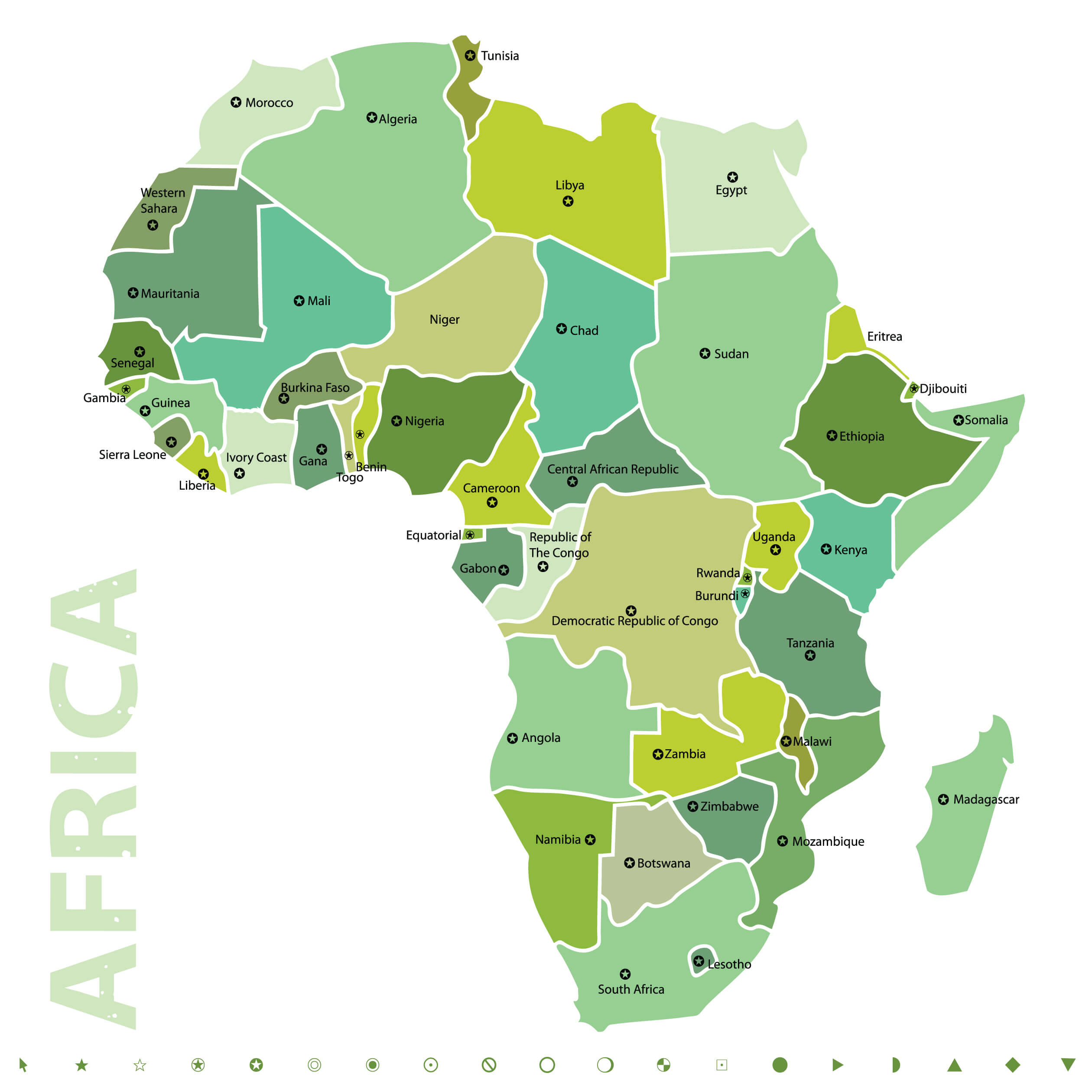 vector map of africa