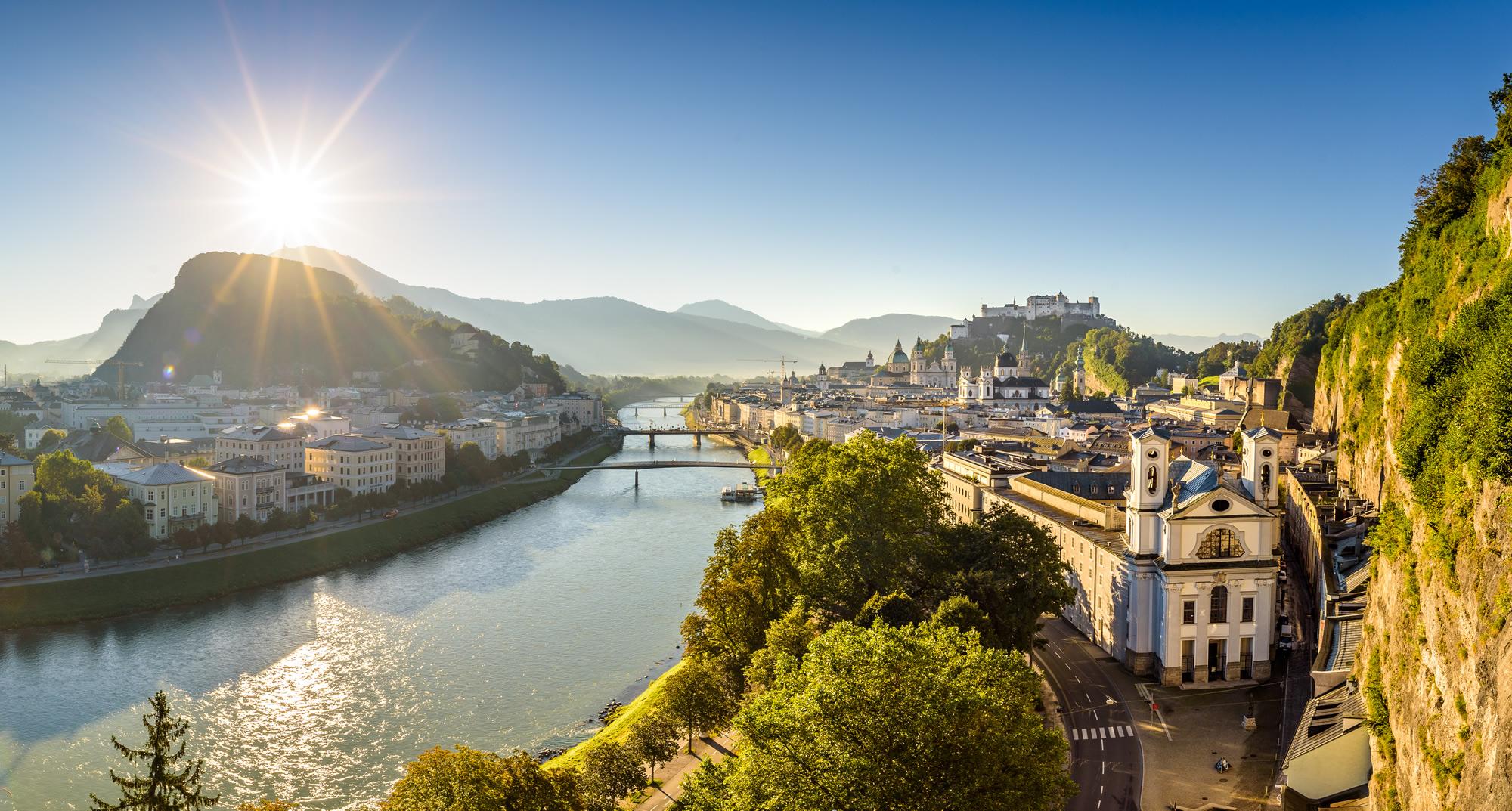 Panoramic view from Salzburg, Austria