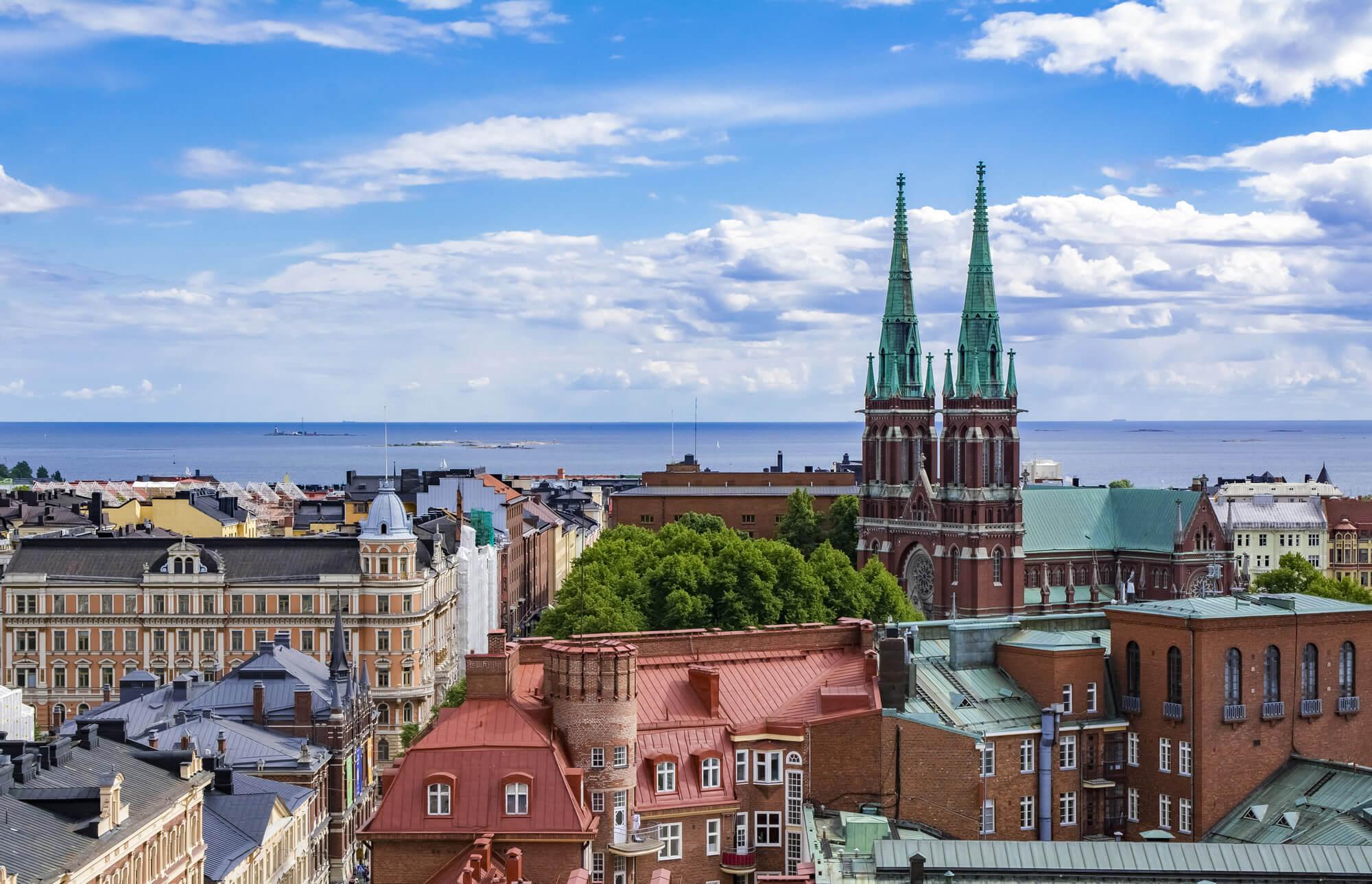 Aerial view of Helsinki, Finland
