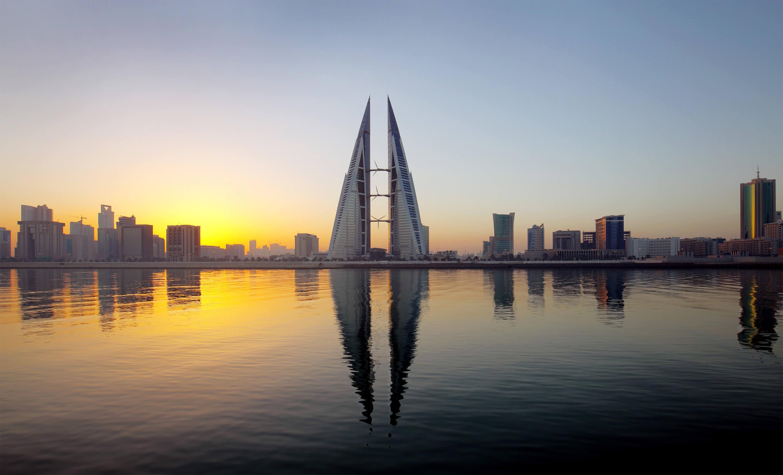 Bahrain Skyline Sunrise