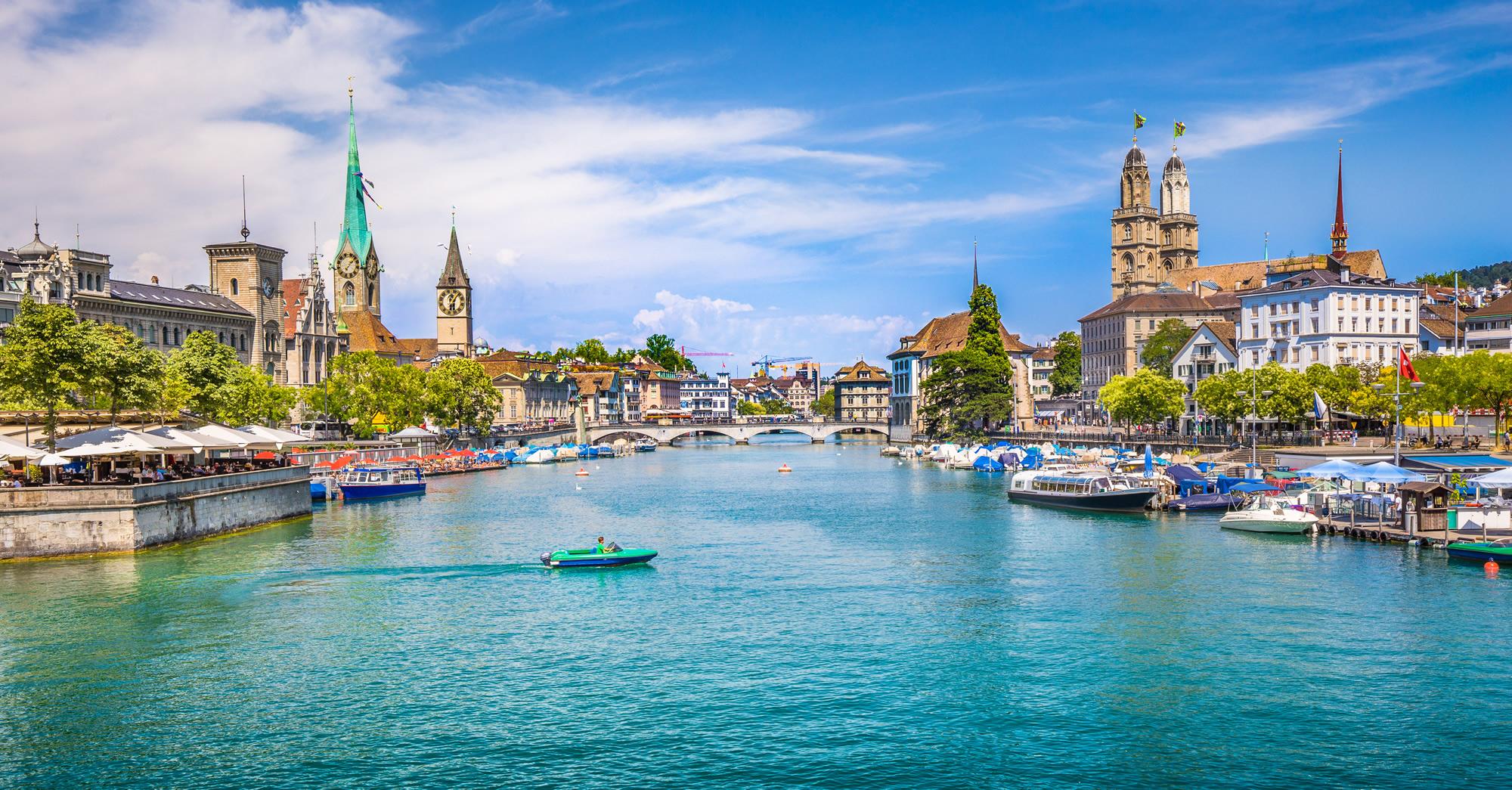 Fraumunster, Grossmunster Zurich Switzerland