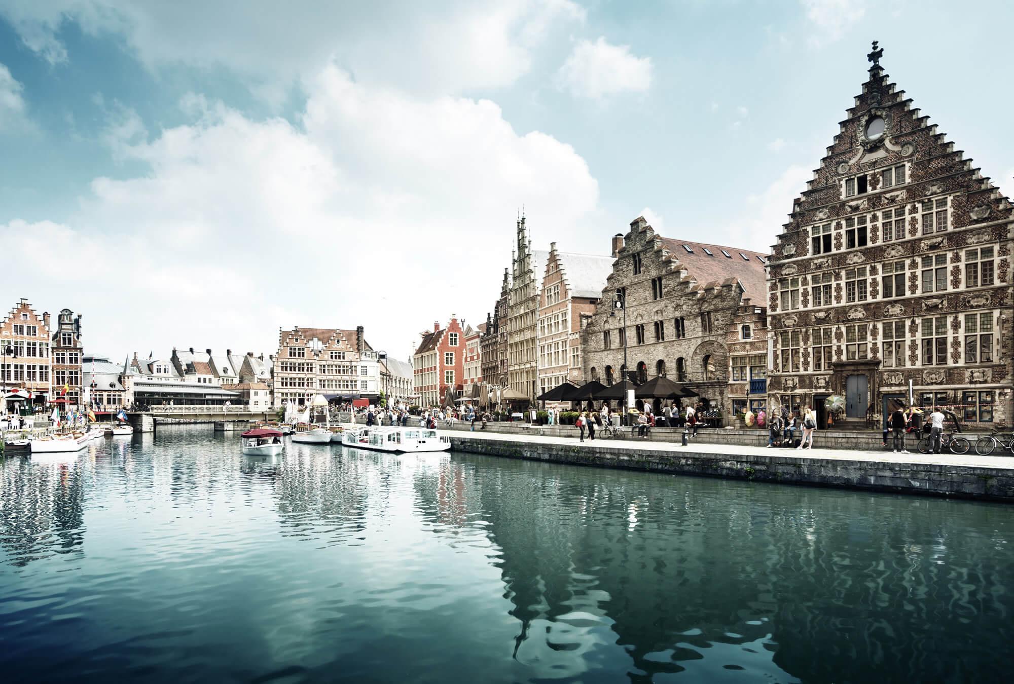 Leie River in Ghent