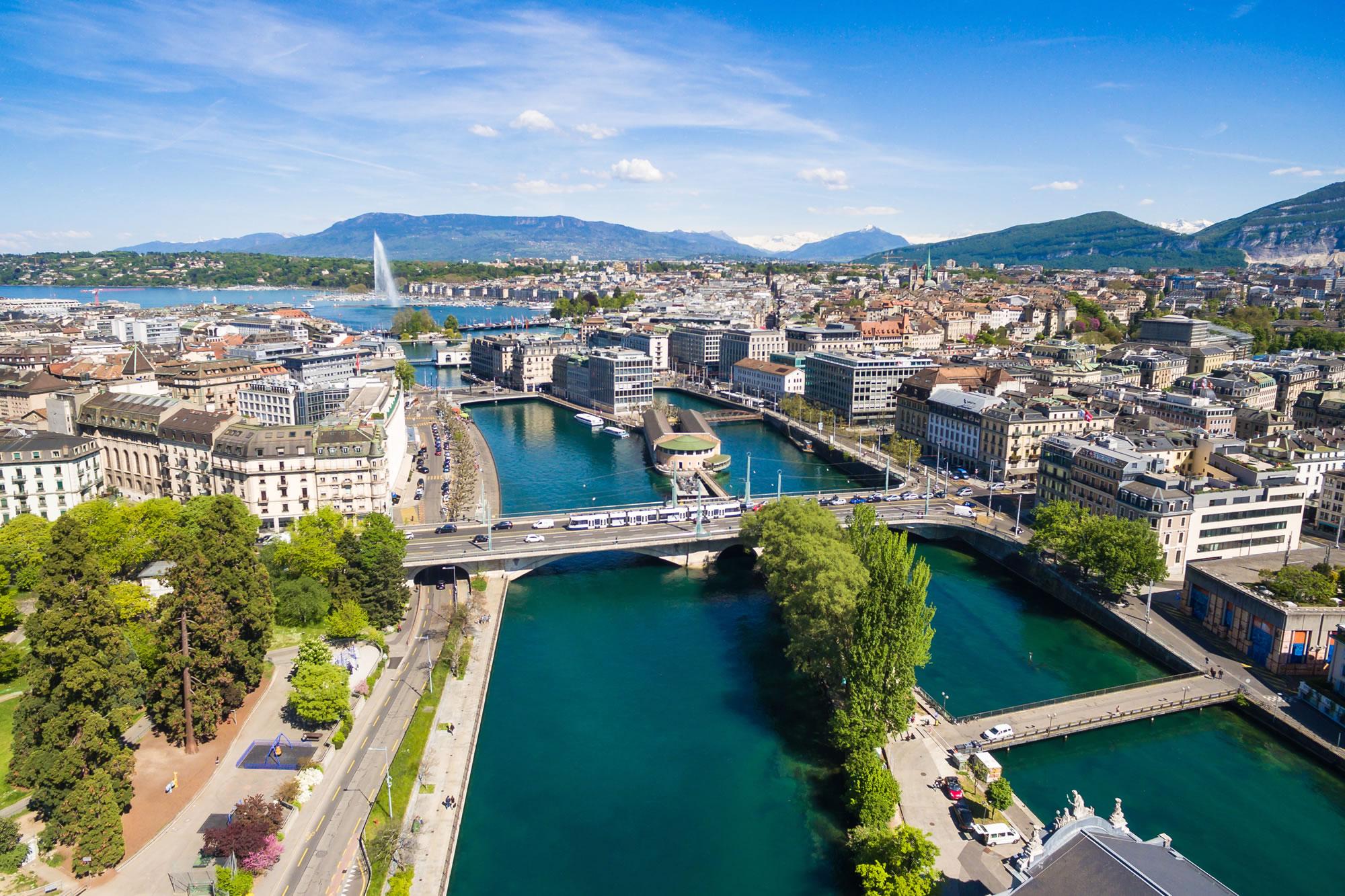 Leman Lake Geneva Switzerland