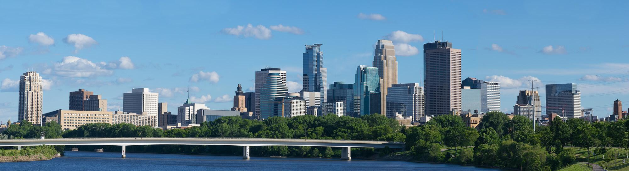 Mississippi River Minneapolis Skylines