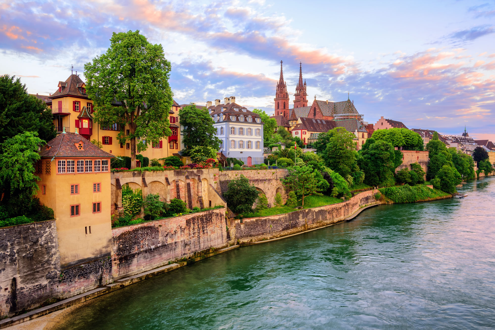 Munster Cathedral and the Rhine River, Basel