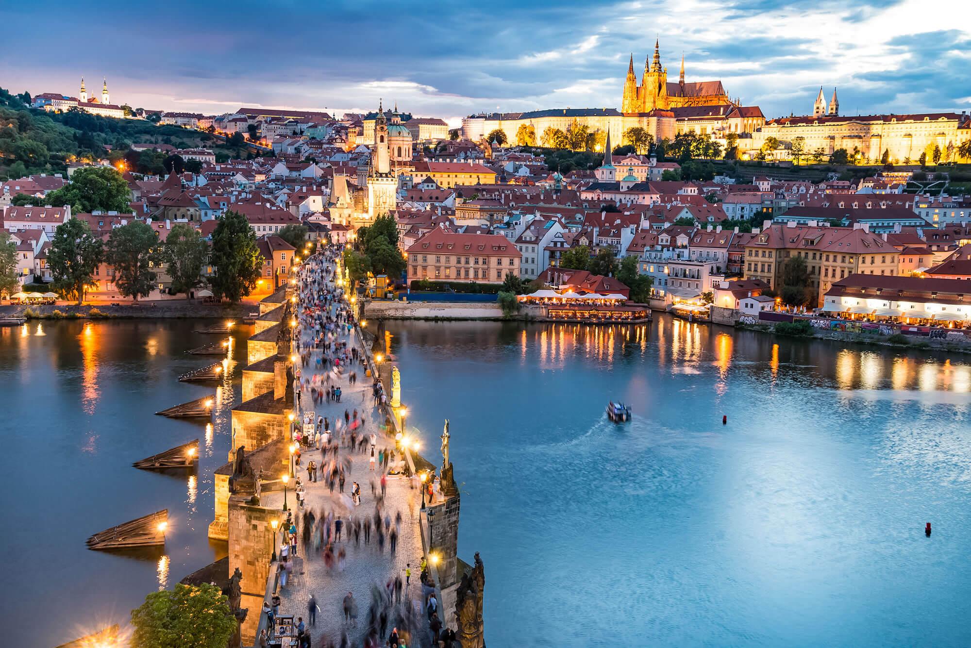 Panorama of Prague, Czech Republic