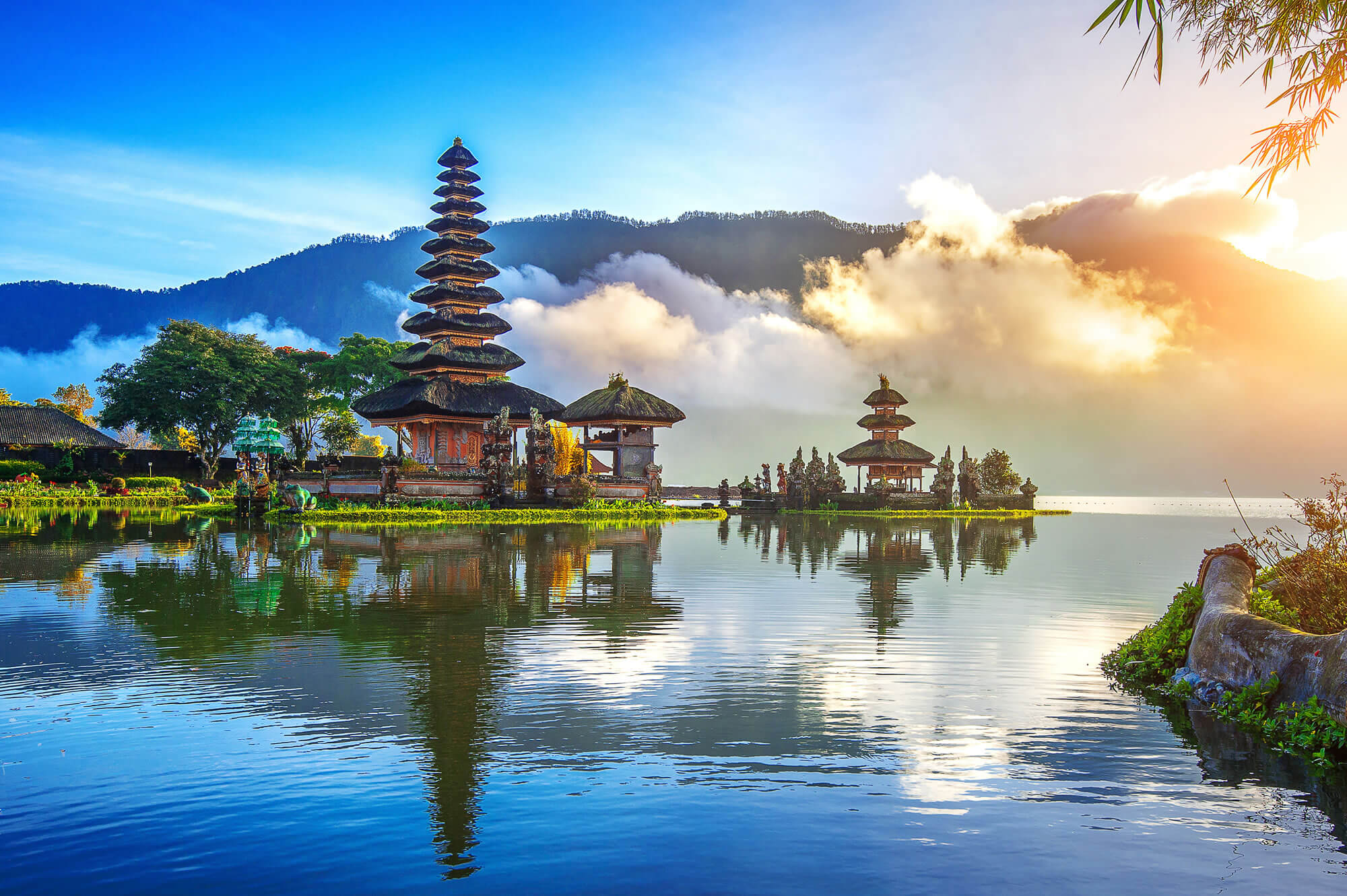 Pura ulun danu bratan temple, Indonesia