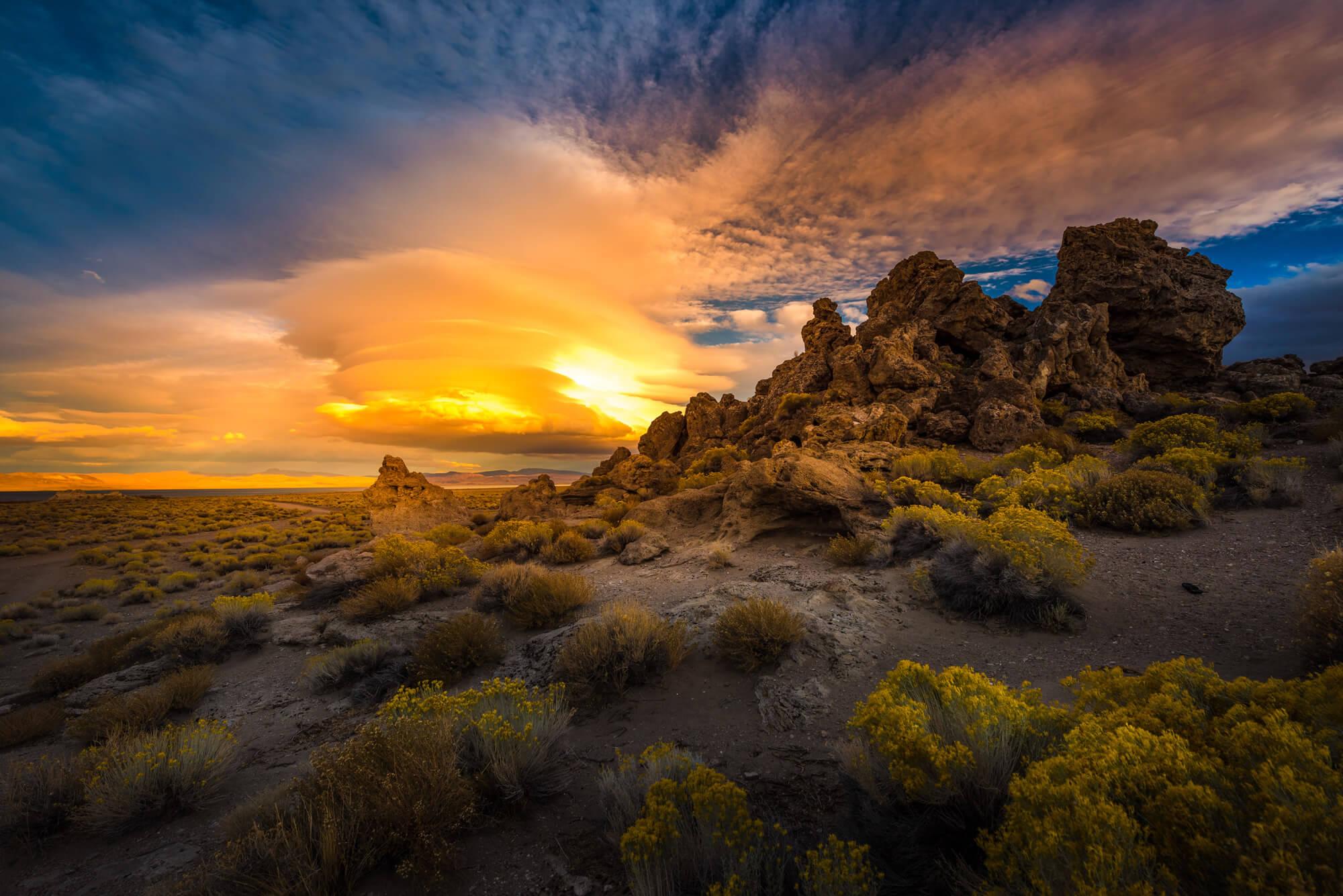 Rock Formations Lake Nevada