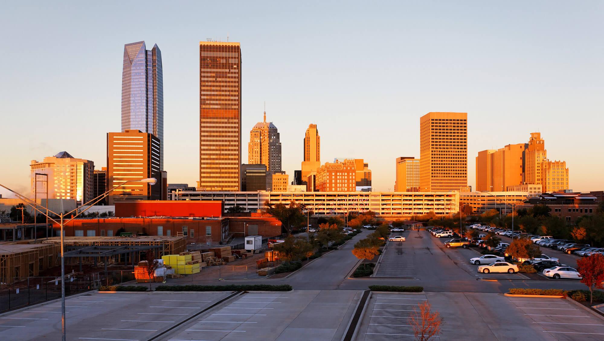 the skyline of Oklahoma City