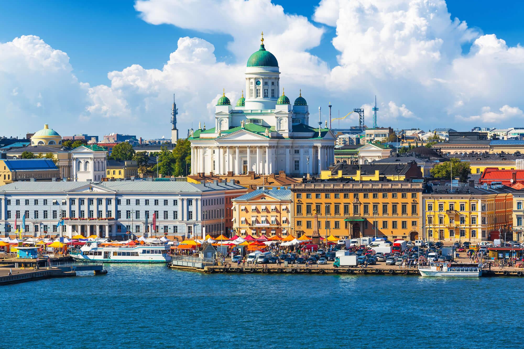 Town Pier in Helsinki, Finland