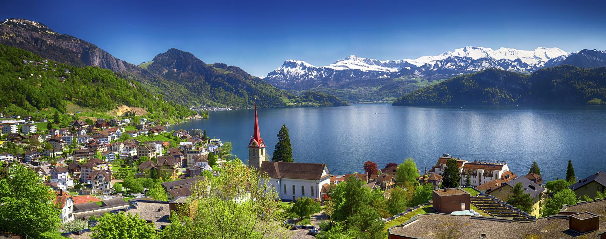 Weggis Lake Lucerne, Switzerland
